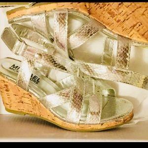 Michael Kors- silver Madrigal sandals